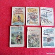 Libros antiguos: NOVELA AVENTURAS AÑOS 20 - 6 FASCÍCULOS DE LA VUELTA AL MUNDO EN BICICLETA (OBRA COMPLETA). Lote 203859471