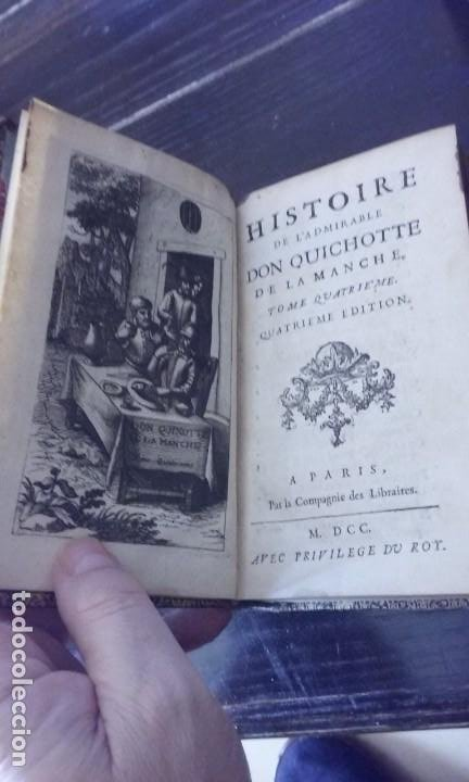 Libros antiguos: Quijote 5 tomos 1700 y Quijote Fernandez de Avellaneda 2 tomos 1707 completos - Foto 5 - 203984056
