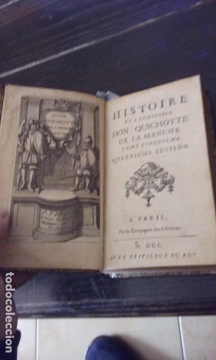 Libros antiguos: Quijote 5 tomos 1700 y Quijote Fernandez de Avellaneda 2 tomos 1707 completos - Foto 6 - 203984056
