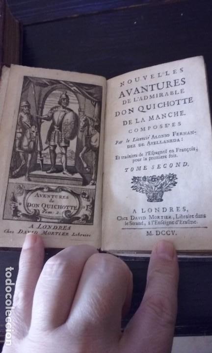Libros antiguos: Quijote 5 tomos 1700 y Quijote Fernandez de Avellaneda 2 tomos 1707 completos - Foto 8 - 203984056