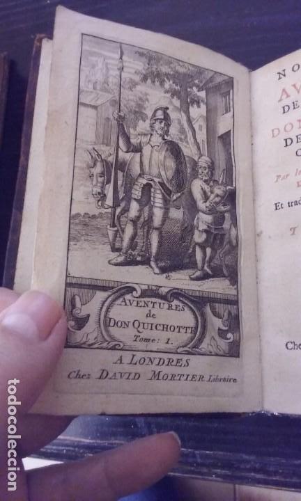 Libros antiguos: Quijote 5 tomos 1700 y Quijote Fernandez de Avellaneda 2 tomos 1707 completos - Foto 9 - 203984056