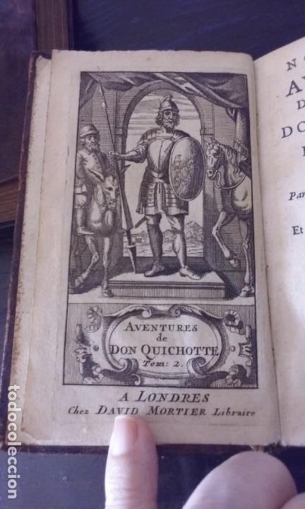 Libros antiguos: Quijote 5 tomos 1700 y Quijote Fernandez de Avellaneda 2 tomos 1707 completos - Foto 10 - 203984056