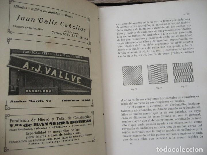 Libros antiguos: monografia de los tejidos arrugados . P. rodon badalona 1929 cataluña textil 2 edicion - Foto 3 - 204056260
