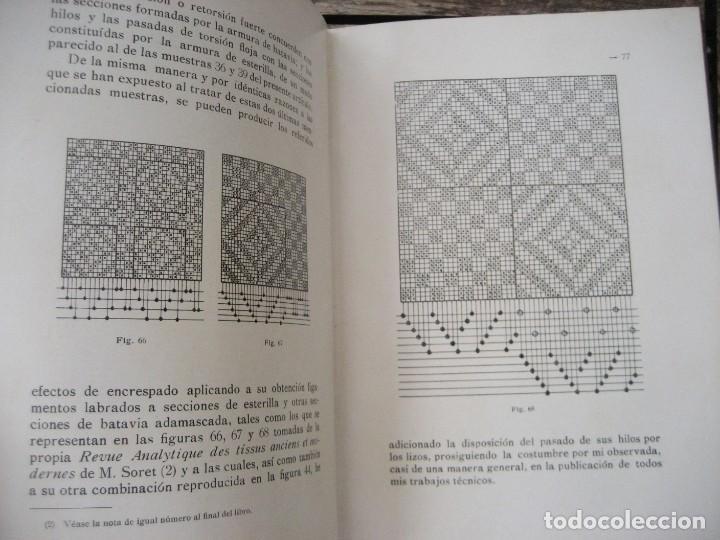 Libros antiguos: monografia de los tejidos arrugados . P. rodon badalona 1929 cataluña textil 2 edicion - Foto 5 - 204056260