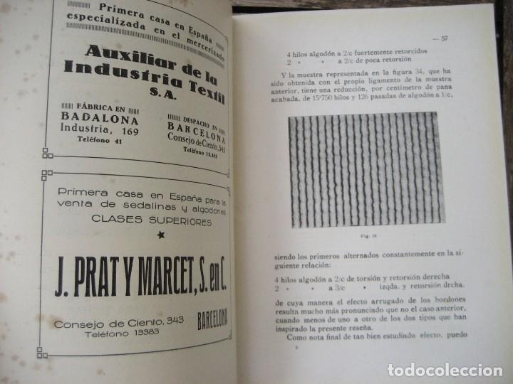 Libros antiguos: monografia de los tejidos arrugados . P. rodon badalona 1929 cataluña textil 2 edicion - Foto 7 - 204056260