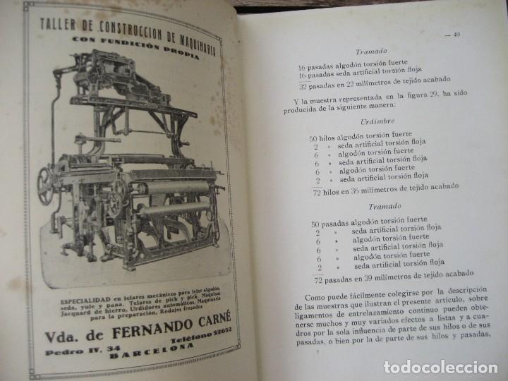 Libros antiguos: monografia de los tejidos arrugados . P. rodon badalona 1929 cataluña textil 2 edicion - Foto 8 - 204056260