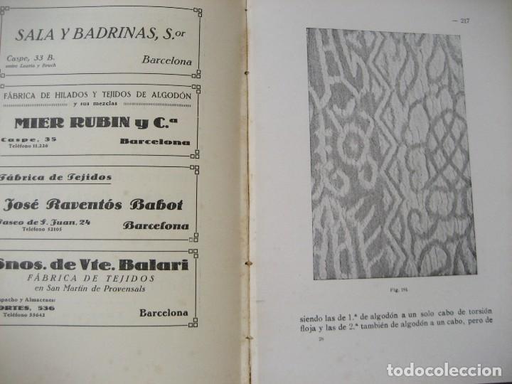 Libros antiguos: monografia de los tejidos arrugados . P. rodon badalona 1929 cataluña textil 2 edicion - Foto 11 - 204056260
