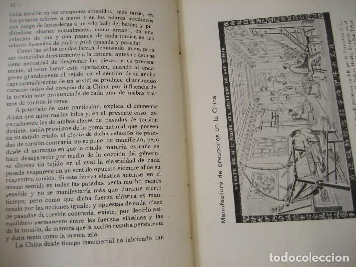 Libros antiguos: monografia de los tejidos arrugados . P. rodon badalona 1929 cataluña textil 2 edicion - Foto 14 - 204056260