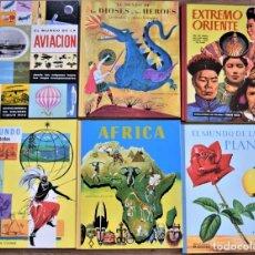 Libros antiguos: LOTE 6 TOMOS EL MUNDO DE LAS PLANTAS Y OTROS + AFRICA, EXTREMO ORIENTE - EDITORIAL TIMUN MAS AÑOS 60. Lote 204081771
