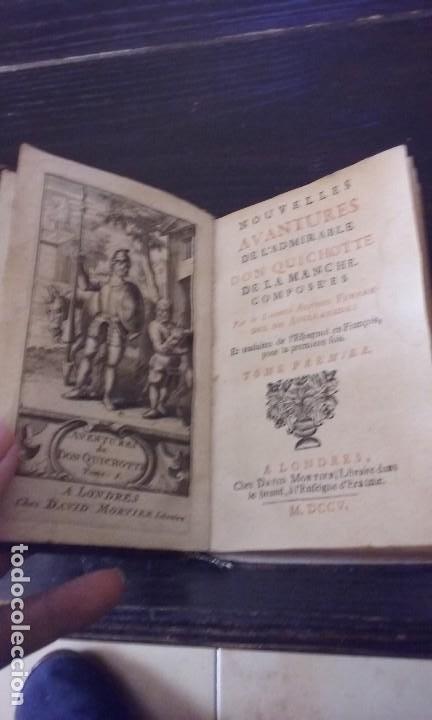 Libros antiguos: Quijote 5 tomos 1700 y Quijote Fernandez de Avellaneda 2 tomos 1707 completos - Foto 12 - 203984056