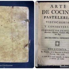 Libros antiguos: ARTE DE COCINA,PASTELERIA,BIZCOCHERIA. COCINERO MAYOR DEL REY FRANCISCO MARTINEZ MONTIÑO. 1778. Lote 204124441