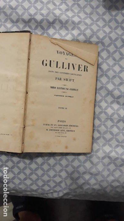 Libros antiguos: voyages de gulliver en frances 1837,paris furne et cie, ilustrado,2 tomos - Foto 5 - 204153216