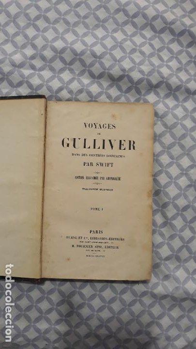 VOYAGES DE GULLIVER EN FRANCES 1837,PARIS FURNE ET CIE, ILUSTRADO,2 TOMOS (Libros Antiguos, Raros y Curiosos - Otros Idiomas)