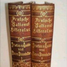 Libros antiguos: DOS LIBROS DE TRISTAN Y SOLDA 1890. Lote 204194821