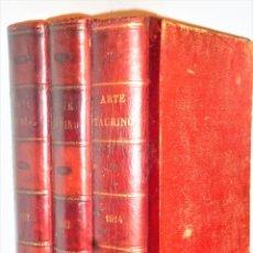 Livres anciens: ARTE TAURINO. REVISTA SEMANAL ILUSTRADA. AÑOS 1912-1913-1914. 3 TOMOS. Lote 204399347