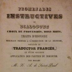Libros antiguos: PROMENADES INSTRUCTUVES, BARCELONA, 1864. Lote 204463112