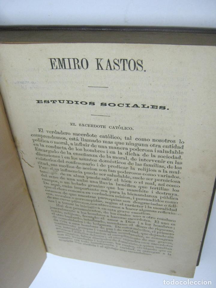 Libros antiguos: 1859 - 1ª EDICION - Juan de Dios Restrepo (Emiro Kastos) COLOMBIA - COLECCION DE ARTICULOS ESCOGIDOS - Foto 2 - 204503701