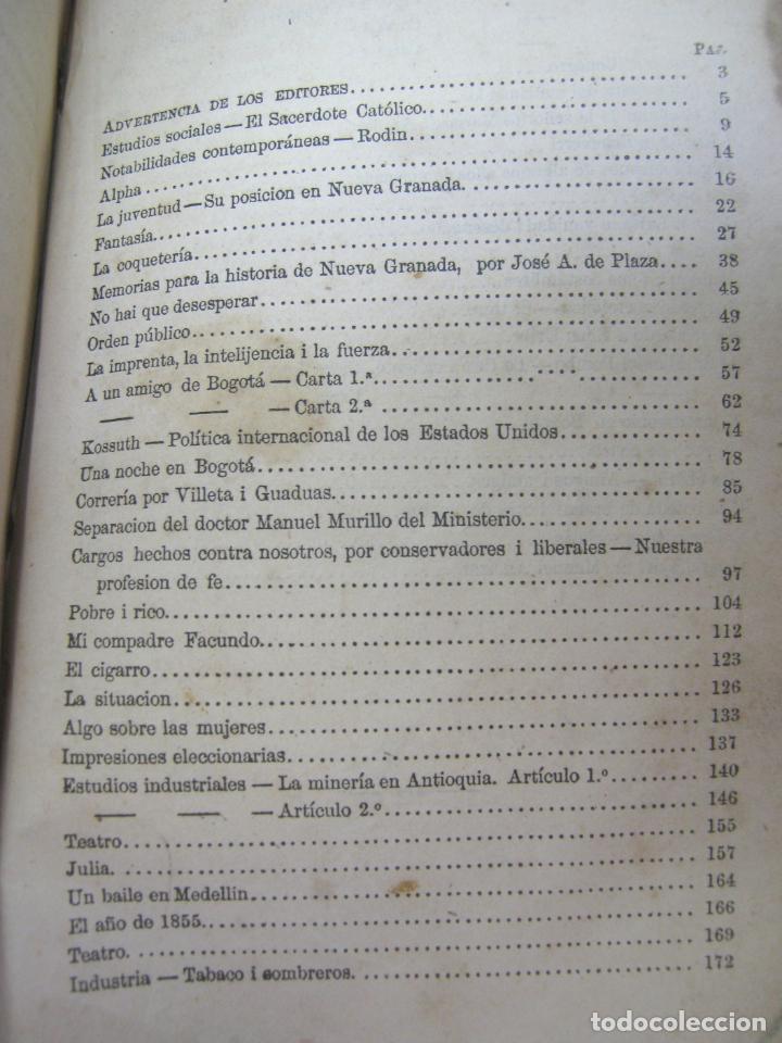 Libros antiguos: 1859 - 1ª EDICION - Juan de Dios Restrepo (Emiro Kastos) COLOMBIA - COLECCION DE ARTICULOS ESCOGIDOS - Foto 3 - 204503701