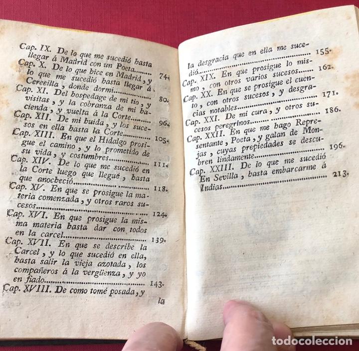 Libros antiguos: L- Obras escogidas de D. Francisco De Quevedo Villegas. Tomo I y II en un solo volumen. Año 1798. - Foto 11 - 204514068