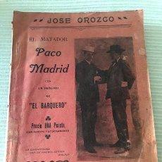 Libri antichi: EL MATADOR PACO MADRID 1912. Lote 204595650
