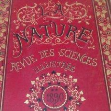 Libros antiguos: LIBRO LA NATURE 1890 CIENCIA FRANCE. Lote 204641158