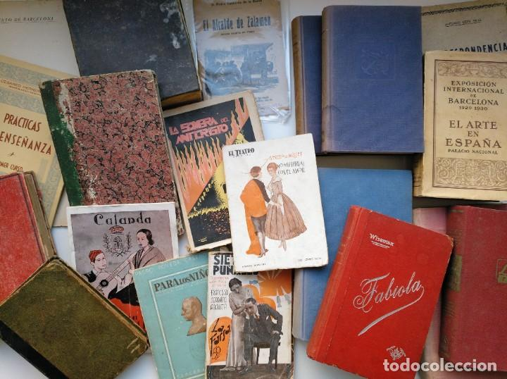 LOTE DE 20 LIBROS DESDE SIGLO XIX HASTA MEDIADOS DE SIGLO XX. VER FOTOS. (Libros Antiguos, Raros y Curiosos - Literatura - Otros)