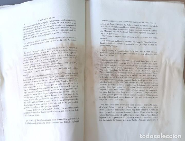 Libros antiguos: CORTES ANTIGUOS REINOS DE ARAGÓN Y VALENCIA Y PPAD. CATALUÑA TOMO V. CORTES DE CATALUÑA 1901 EN RAMA - Foto 2 - 204792455