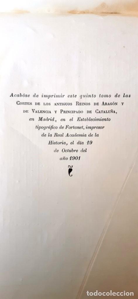 Libros antiguos: CORTES ANTIGUOS REINOS DE ARAGÓN Y VALENCIA Y PPAD. CATALUÑA TOMO V. CORTES DE CATALUÑA 1901 EN RAMA - Foto 5 - 204792455