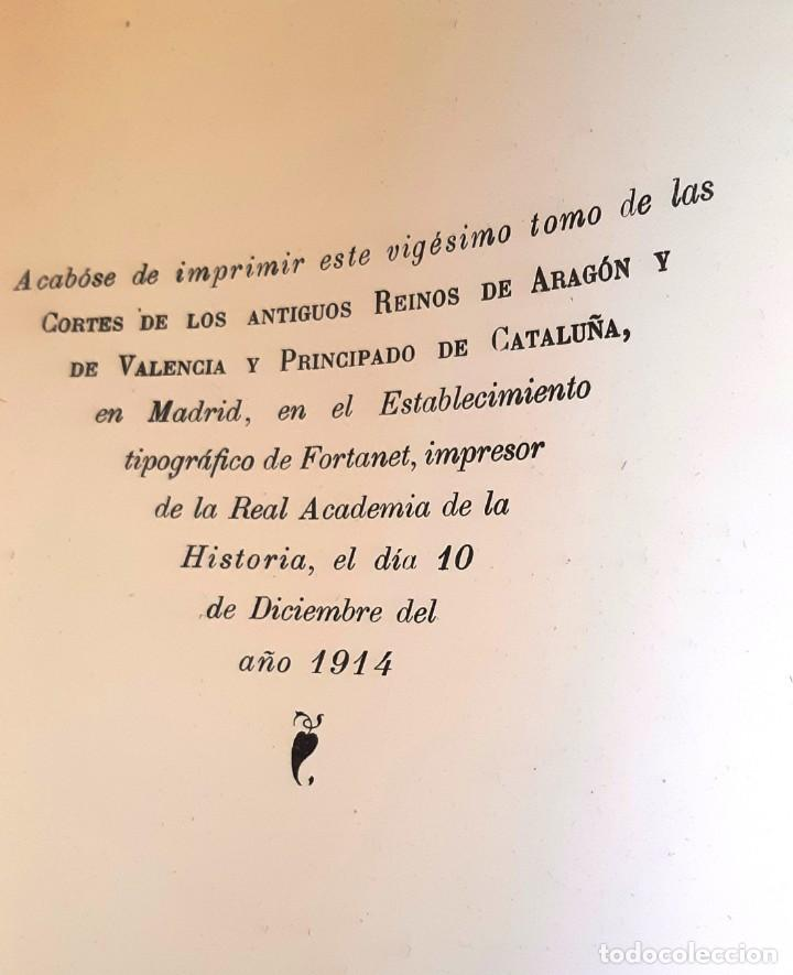 Libros antiguos: CORTES ANTIGUOS REINOS DE ARAGÓN Y VALENCIA Y PPDO. DE CATALUÑA TOMO XIX - 1914 - SIN USAR - Foto 2 - 204798425