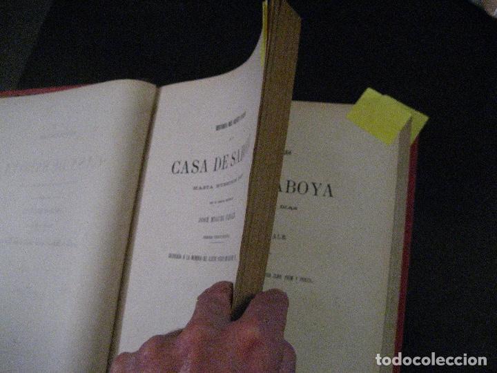 Libros antiguos: 1872 Historia del origen itálico y de la casa de Saboya, José Miguel Canale, Madrid. 2 tomos en uno - Foto 9 - 205064536