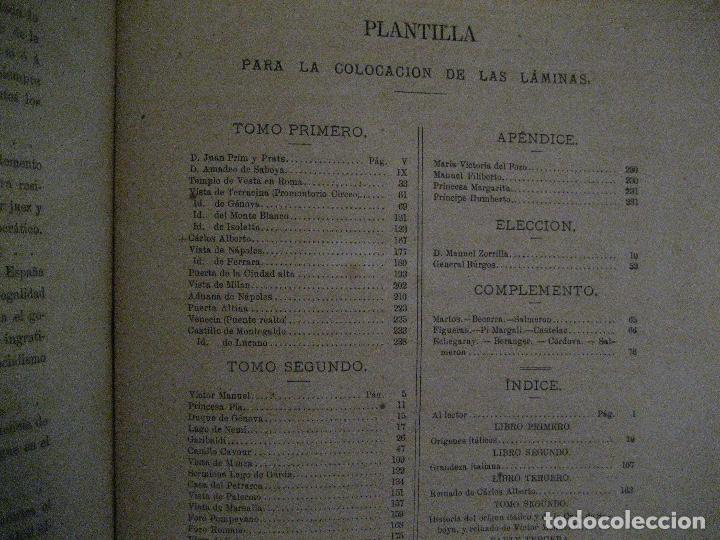 Libros antiguos: 1872 Historia del origen itálico y de la casa de Saboya, José Miguel Canale, Madrid. 2 tomos en uno - Foto 11 - 205064536