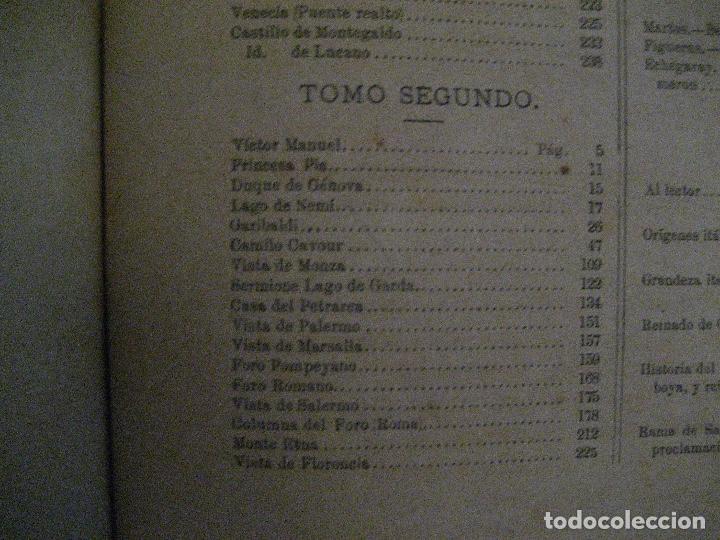 Libros antiguos: 1872 Historia del origen itálico y de la casa de Saboya, José Miguel Canale, Madrid. 2 tomos en uno - Foto 13 - 205064536