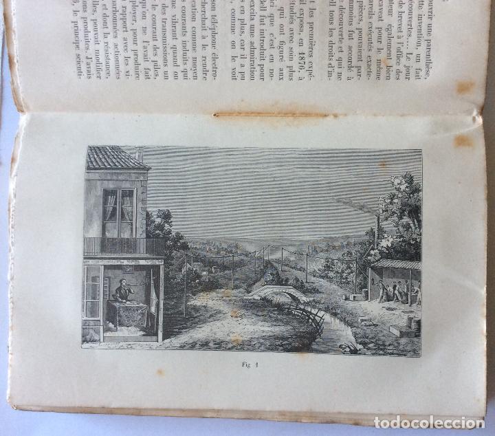 Libros antiguos: LE TELÈPHONE PARIS AÑO 1878. BIBLIOTHEQUE DES MERVEILLES . FRANCES - Foto 5 - 205104647