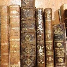 Livres anciens: SEIS LIBROS EN FRANCÉS DE LOS SIGLOS XVIII Y XIX PARA DECORACIÓN, CON FALTAS. Lote 205139201