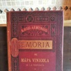 Libros antiguos: MEMORIA DEL MAPA VINÍCOLA DE LA PROVÍNCIA DE BARCELONA CATALÀ-CASTELLÀ-FRANCÈS 1890 R.ROIG ARMENGOL. Lote 205303350