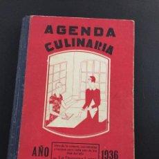 Libros antiguos: AGENDA CULINARIA - LA DUQUESA LAURA - 1936 - CASA EDITORIA BAILE BAILLIERE. Lote 205331463