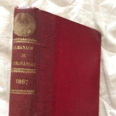 Livres anciens: ALMANACH DE LEMBRANÇAS LUSO BRASILEIRO. POESÍA, TEXTOS EN PROSA,PASSATIEMP. CURIOSIDAD, GRABAD.. Lote 205341615