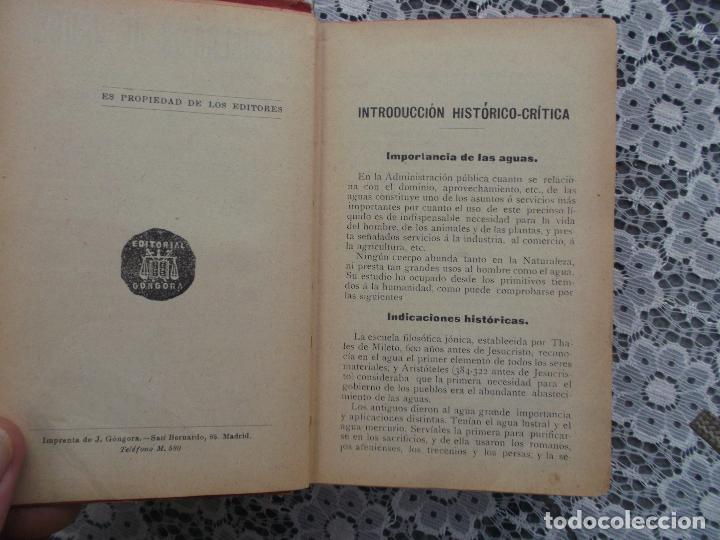 Libros antiguos: Legislacion de aguas,Gustavo la Iglesia,1920,editorial Gongora, mirar fotos - Foto 4 - 205382701