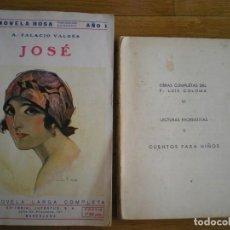 Libros antiguos: OBRAS COMPLETAS DEL PADRE LUIS COLOMA, Y JOSÉ, DE ARMANDO PALACIO VALDES 1.944 Y 1.924. Lote 205397612