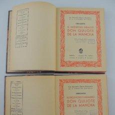 Livres anciens: DOS TOMOS DE EL INGENIOSO HIDALGO DON QUIJOTE POR CERVANTES- 1 EDICION -EDITOR JOAQUIN GIL IBERIA. Lote 205433918