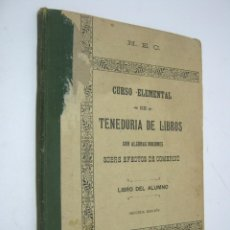 Libros antiguos: TENEDURIA DE LIBROS CURSO ELEMENTAL- H..E.C. GIJON 1907.. Lote 205435801