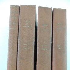 Livres anciens: 4 TOMOS ENCUADERNADOS CON OBRAS DE JULIO VERNE EDITOR HERMANOS SAENZ DE JUBERA. Lote 205438957