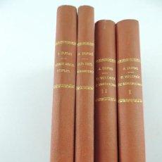 Livres anciens: 4 TOMOS ENCUADERNADOS CON OBRAS DE ALEJANDRO DUMAS. Lote 205439383