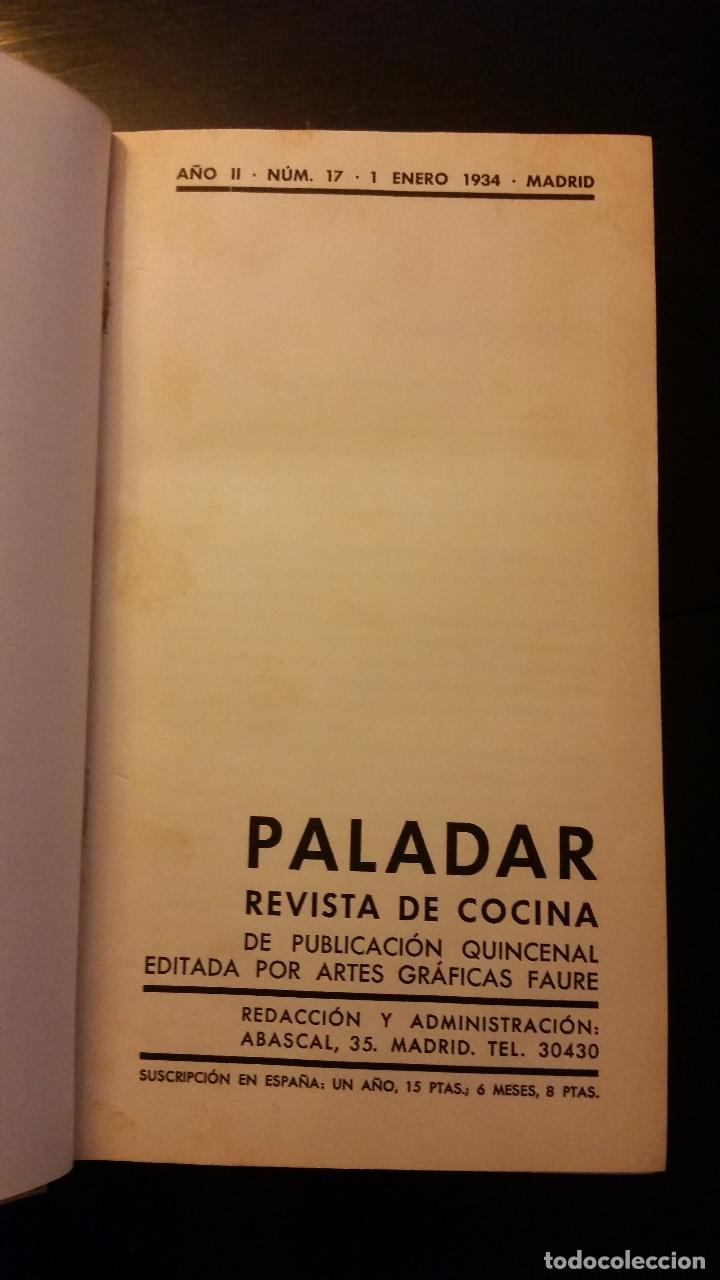 Libros antiguos: 1934 - Paladar. Revista de cocina. Primer semestre de 1934 - Foto 2 - 205572783