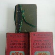 Livres anciens: ANTIGUOS LIBROS DE COCINA....DE 1910 Y 1947. Lote 205659130