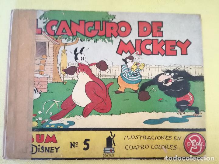 1930´S, EL CANGURO DE MICKEY, ÁLBUMES WALT DISNEY, Nº 5, ED. MOLINO, BARCELONA (Libros Antiguos, Raros y Curiosos - Literatura Infantil y Juvenil - Otros)