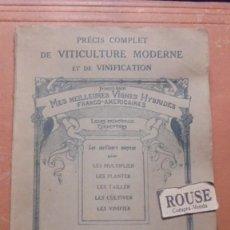 Libros antiguos: VINOS - FRANCOIS BACO - MES MEILLEURES VIGNES HYBRIDES - FRANCO-AMERICAINES PRECIS COMPLET DE VITICU. Lote 205787490
