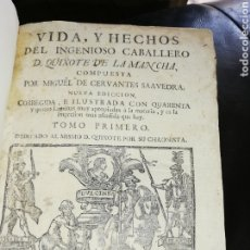 Libros antiguos: LIBRO TOMO UNO DEL QUIJOTE SIGLO XVLLL.. DEL 1700... CONSTA DE DOS TOMOS ESTA OBRA.. ESTA ES EL UNO.. Lote 205789417