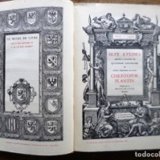 Livres anciens: CHRISTOPHE PLANTIN // SEPT ETUDES // MUSEE DU LIVRE // BRUXELLES // 1920 // TEXTO EN FRANCES. Lote 205828340