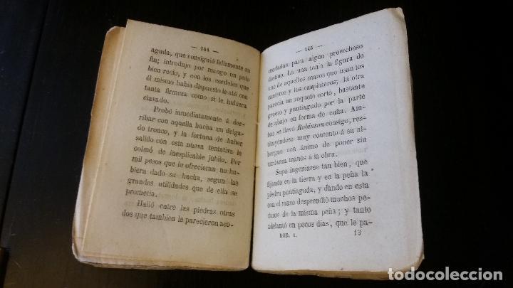 Libros antiguos: 1858 - CAMPE - El nuevo Robinson, historia moral, reducida a diálogos - TOMO I - Foto 4 - 205828680